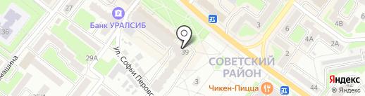 Заводской бар на карте Брянска