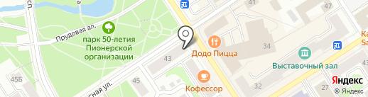 Джинс@ на карте Петрозаводска