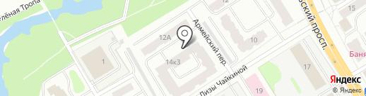 Город на карте Петрозаводска