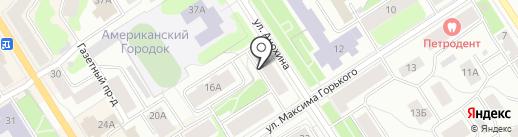 Север Камень на карте Петрозаводска