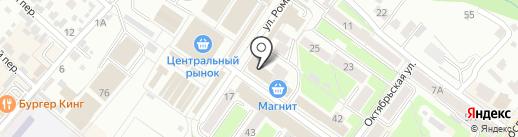 Кристалл на карте Брянска