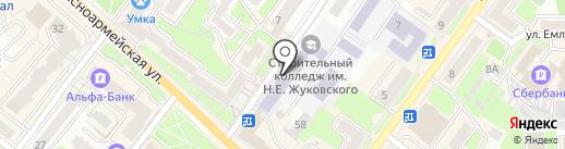 Брянский строительный колледж им. профессора Н.Е. Жуковского на карте Брянска