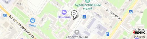 Золотая Камея на карте Брянска