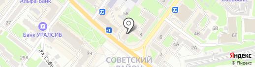 Центр на карте Брянска