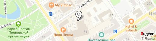 Магазин джинсовой одежды на карте Петрозаводска