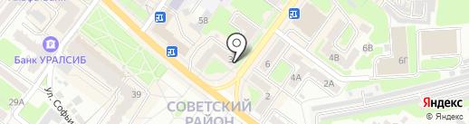 Симони на карте Брянска