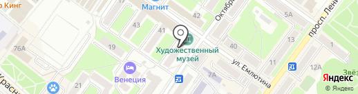 Матрешка на карте Брянска