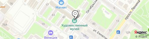 Брянский областной учебно-методический центр культуры и искусства на карте Брянска