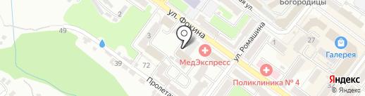 Фонд социального страхования РФ на карте Брянска