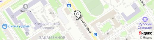 Кладовая здоровья на карте Петрозаводска