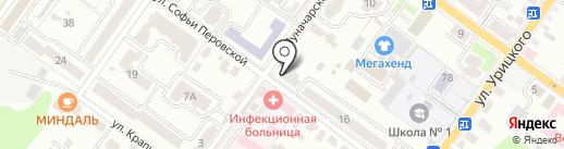 Кактуз на карте Брянска