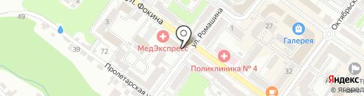 Нотариус Гришина Е.В. на карте Брянска