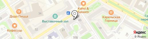 СЕВЕРО-ЗАПАД АВТО на карте Петрозаводска