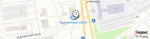 Петрозаводск-Лада на карте Петрозаводска