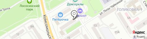 Алкор на карте Петрозаводска