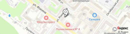 Квартира-студия DF на карте Брянска