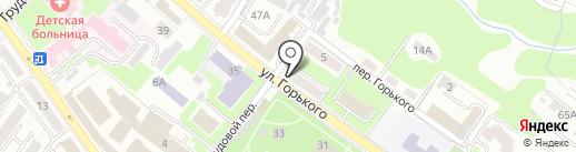 Тютчев на карте Брянска