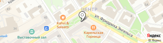 Руна-Лэнд на карте Петрозаводска