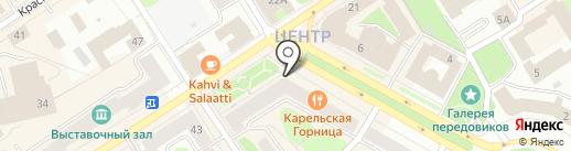 Вариант плюс на карте Петрозаводска