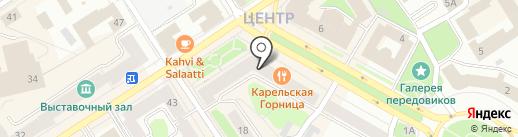 Залог на карте Петрозаводска