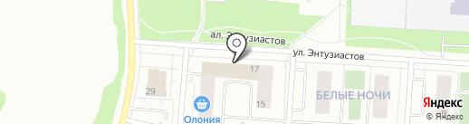 Мир стульев на карте Петрозаводска