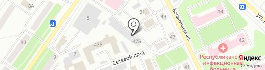 Петрозаводские коммунальные системы на карте Петрозаводска