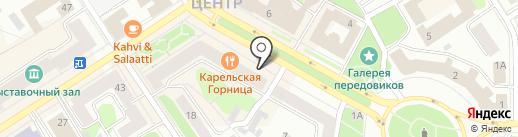 Карельская горница на карте Петрозаводска