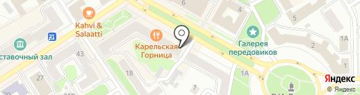 Петровский на карте Петрозаводска