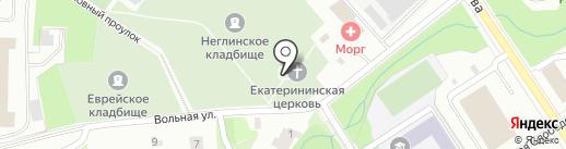 Церковь во имя святой великомученицы Екатерины на карте Петрозаводска