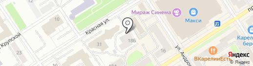 Компания по аудиту и праву на карте Петрозаводска