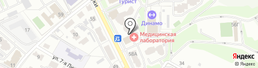 Салон обоев на карте Брянска