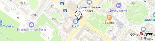 Магазин спортивных товаров на карте Брянска