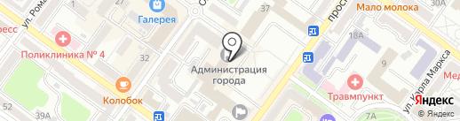 Брянский городской Совет народных депутатов на карте Брянска