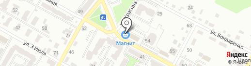 ТАНЦОР на карте Брянска