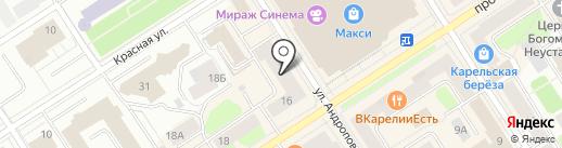 Касса Взаимопомощи Карелия на карте Петрозаводска