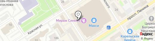 Askona на карте Петрозаводска