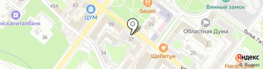 Краснодеревщик на карте Брянска