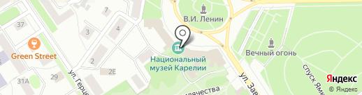 Национальный музей Республики Карелия на карте Петрозаводска