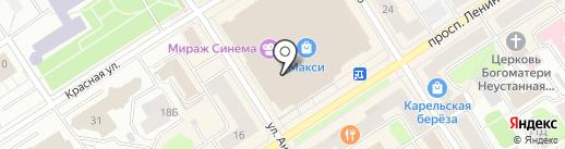 Парикмастерский на карте Петрозаводска