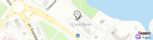 Свой берег на карте Петрозаводска