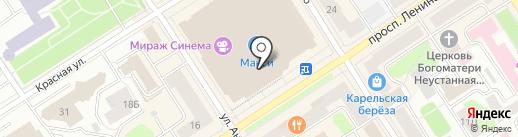 Дочки-Сыночки на карте Петрозаводска