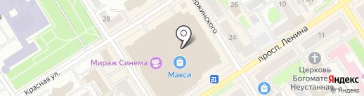 Burger King на карте Петрозаводска