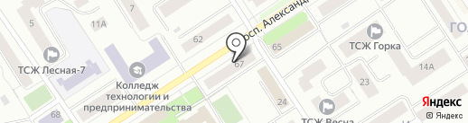 TELESAT на карте Петрозаводска