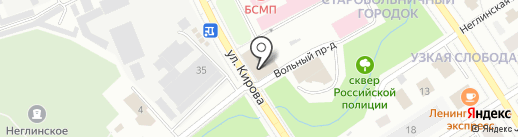 Северо-Западный информационный центр на карте Петрозаводска