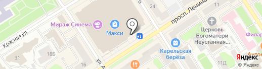 Банкомат, Мособлбанк, ПАО на карте Петрозаводска