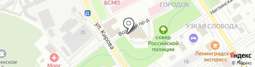 Астрея на карте Петрозаводска