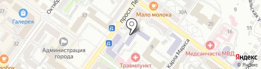 Брянский государственный инженерно-технологический университет на карте Брянска
