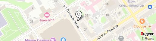Туристическое агентство на карте Петрозаводска