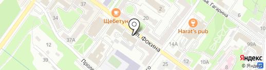 Профсоюз работников строительства и промышленности строительных материалов на карте Брянска