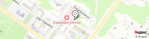 Брянский областной кардиологический диспансер на карте Брянска